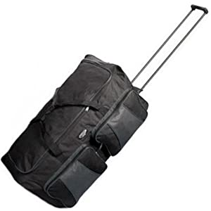 Cabin Approved Lightweight Wheeled Holdall (All Black)