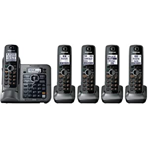 Panasonic DECT 6.0 Link-to-Cell via Bluetooth Cordless Phone with Answering System