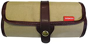 Derwent Canvas Pencil Wrap, 30 Pencil plus Accessory Storage Capacity, Unrolls Flat for Easy Access, Press-Stud for Security