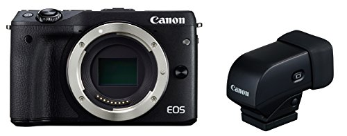 Canon EOS M3 Body (Black) with EVF-DC1 Electronic ViewFinder Kit