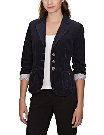 tom tailor damen blazer 39000560070 casual cord blazer gr 34 blau 6521 bekleidung. Black Bedroom Furniture Sets. Home Design Ideas