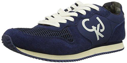 Calvin Klein - Marc Nylon/Mesh/Suede, Pantofole da uomo, blu (blue  (navy navy)), 45