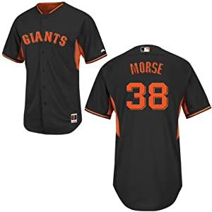 Michael Morse San Francisco Giants Black Batting Practice Jersey by Majestic by Majestic