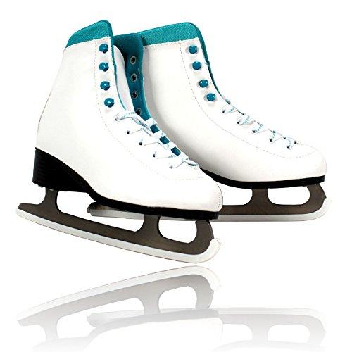 Mädchen Schlittschuhe Weiß Gr 38 Schlittschuh Eiskunstlauf Weiss Damen Eislaufen ~nx