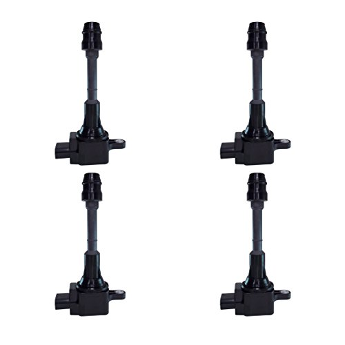 Ignition Coil Complete Set of 4 w/ for Nissan Altima 02-06 2.5L, Sentra 02-05 2.5L, X-Trail 05-06 compatible with UF-350 UF350 (Nissan Altima Year compare prices)