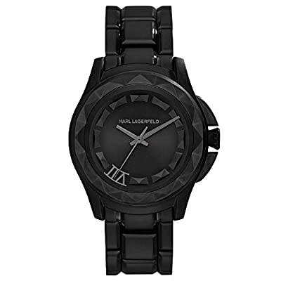 Karl Lagerfeld Seven 7 Analog Quartz Black Dial Stainless Mens Watch KL1022