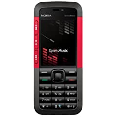 Nokia 5310 XpressMusic red (EDGE, Musik-Player, UKW-Radio, Kamera mit 2 MP, Bluetooth) Triband Handy ohne Vertrag, ohne Branding, kein Simlock