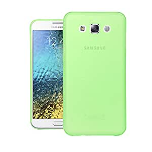 Galaxy E7 Case, Thin Fit Frosted Paper Armor Case Back Cover for Samsung Galaxy E7 (Green)
