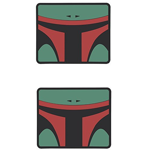 Boba-Fett-Mask-Lucasfilm-LTD-Star-Wars-Cartoon-Movie-Character-DC-Comics-Car-Truck-SUV-Universal-Fit-Rear-Seat-Utility-Rubber-Floor-Mats-PAIR-by-LA-Auto-Gear