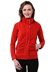 Purys red winter fleece jacket