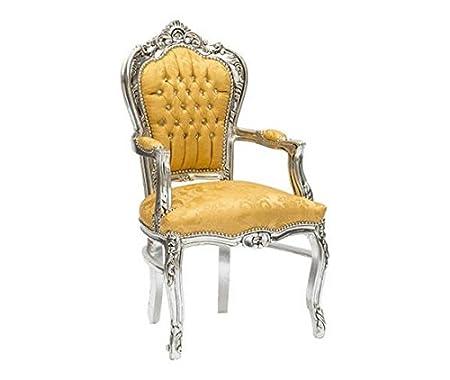 Sillón barroco plata y oro