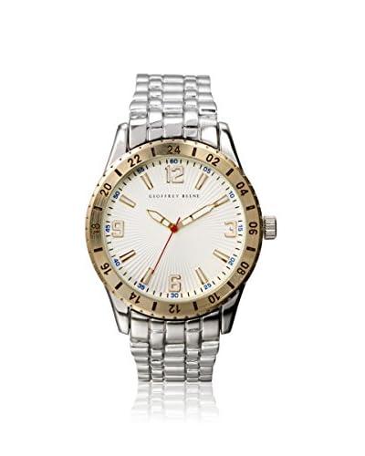 Geoffrey Beene Men's GB8043SLGDWT Silver/White Metal Alloy Watch