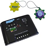 HQRP 10A Solar Panel Power Battery Charge Controller / Regulator 12V / 24V 10 Amp 150W with PWM Type of Charging plus HQRP UV Chain / UV Radiation Health Tester