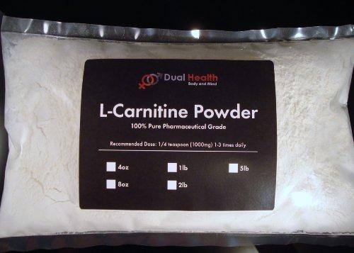 8 oz L-Carnitine Powder 1000mg (227g) Fat Burner Diet Weight loss Energy Amino Acid Infertility USP & FCC Pharmaceutical Grade By Dual Health
