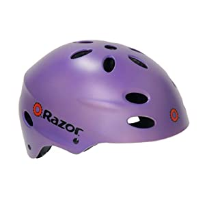 Razor V-17 Youth Helmet, Satin Lilac