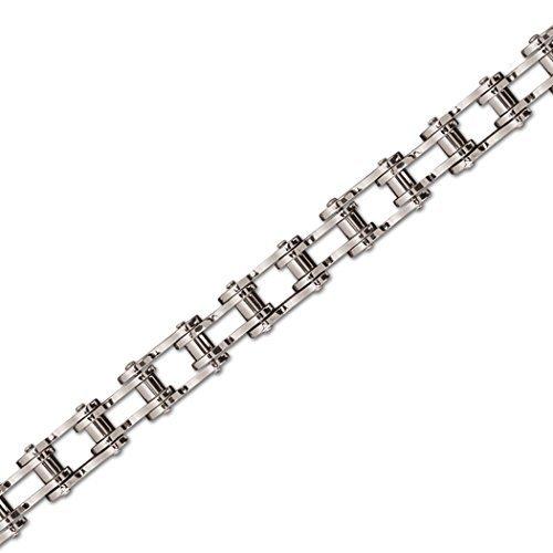 """etNox - braccialetto """"bike chain"""" in acciaio inox 21 cm (SA009L)"""