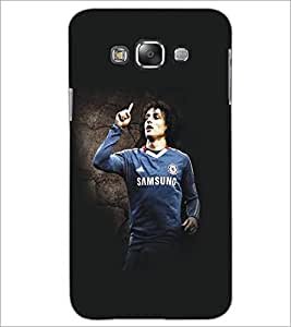 PrintDhaba Football Player D-5420 Back Case Cover for SAMSUNG GALAXY A8 (Multi-Coloured)