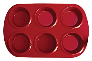 Silicone Solutions Standard 6 Cup Muffin Pan, Burgundy