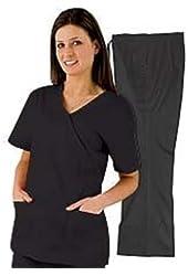Medical Scrubs - Women's Mock Wrap/Flare Pant Set
