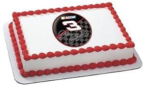 "2"" Round ~ Dale Earnhardt Sr. #3 Nascar Logo ~ Edible Image Cake/Cupcake Topper!!!"