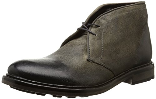 Base London - Carbon, Stivali Chukka da uomo, grigio (greasy suede grey), 44