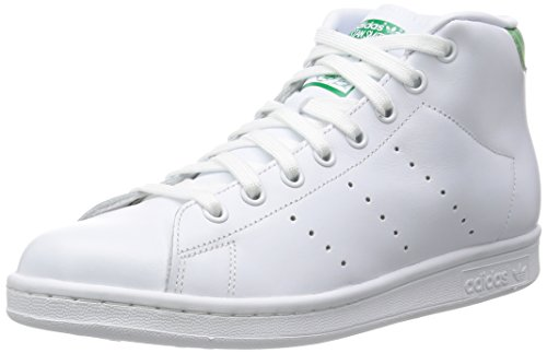 adidas Hombre Stan Smith Mid gimnasia, Bianco (Ftwwht/Ftwwht/Green), 38.6
