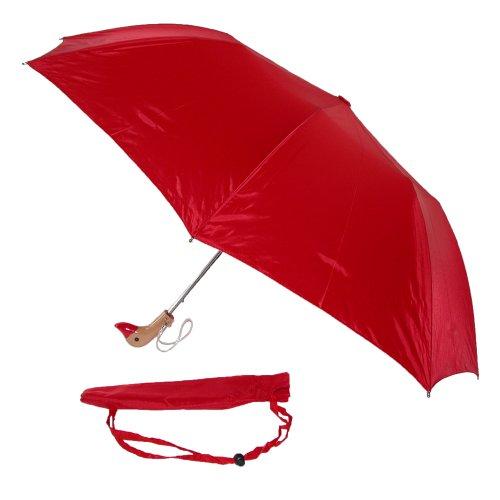 leighton-unisex-holz-ente-kopf-regenschirm-rot-rot-einheitsgrosse