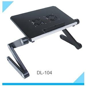 Amazon Com Blue Storm Aluminium Laptop Desk With Usb Fan