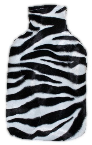 Warm Tradition Zebra Print Covered Hot Water Bottle - Made In Germany
