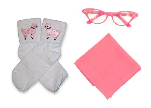 Hip Hop 50S Shop Child 3 Piece Accessories - Child Size Hot Pink