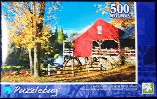 The Old Mill, Vermont, New England 500 Piece Puzzle - 1