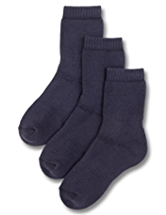 3 Pairs of Thermal School Socks with Modal