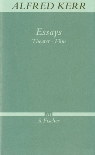 Essays: Theater - Film<br /> Band III