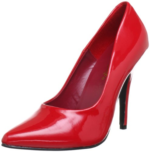 Pleaser Women's Seduce-420 Pump,Red Patent,11 M