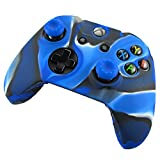 Pandaren Soft Silicone Skin for Xbox ONE Controller Set(camoublue X 1 + Thumb Grip X 2)