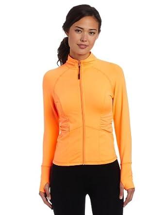 (疯抢)Calvin Klein Performance Women's Swerve 卡文克莱修身运动外套橙色$35.43