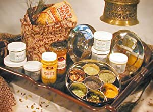 Ajika Traditional Indian Spice Box with Spices - Unique Food Gift Basket