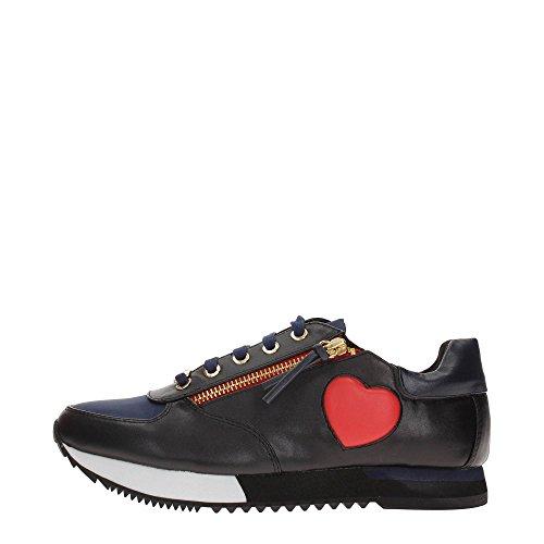 Love Moschino JA15093G12I Sneakers Donna Ecopelle BLU/NERO BLU/NERO 37