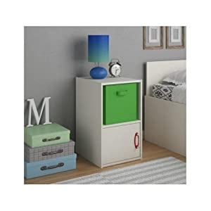 teen nightstand white with storage bin modern bedroom