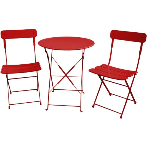 NACH 3-Piece Classic French Bistro Set, Red