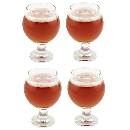 Libbey Belgian Beer Taster Glass 5 oz - 4 Pack w/ Pourer (Small Beer Glasses compare prices)