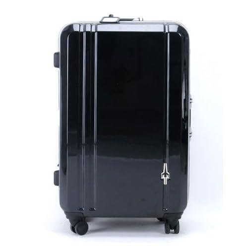 CONTINENTS(トランスコンチネンツ)キャリーケース スーツケース ダブルキャスター TSAロック搭載 軽量 (49)ブラックメタリック Free