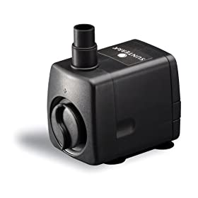 Sunterra 114516 Medium Fountain Pump, 130 GPH, Black