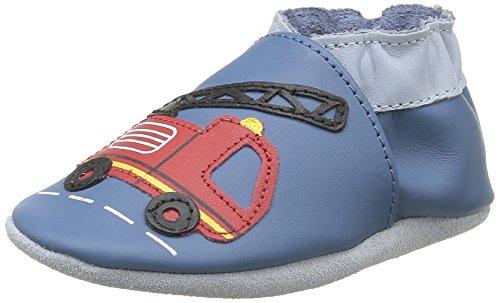 RobeezLONDON STREET - Scarpine e pantofole primi passi  Unisex - Bimbi 0-24 , Blu (Blau (53)), 23/24