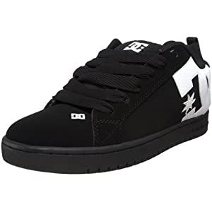 DC Men's Court Graffik Sneaker,Black/White/Carbon,8 M US