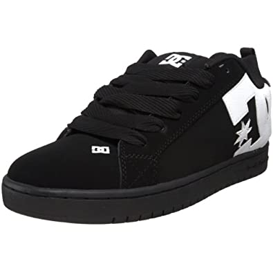 DC Men's Court Graffik Sneaker,Black/White/Carbon,3 M US