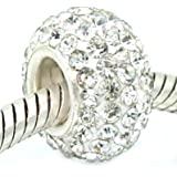 Pro Jewelry .925 Sterling Silver Clear Crystal Charm Bead