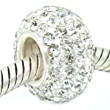 Sterling Silver Swarovski Crystal Bead Charm