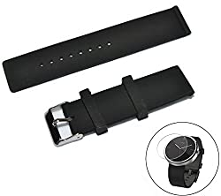Moto 360 Smartwatch Silicone Motorola Watchband Strap by Purple Penguin, with Watch Screen Protector, Breathable, Anti-Slip and Waterproof. Perfect for Physical Activities. Wear Yours Now!
