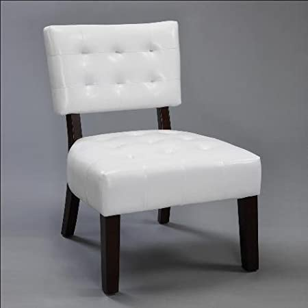 White Beverly Accent Chair